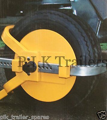 "*FREE P&P* Wheel Immobilising Clamp for 8"" & 10"" Trailer Wheels.      #9061"
