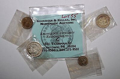 Free Shipping: 1961 Queen Elizabeth II Maundy Money 4 Coin Set No Box (NUM1675)