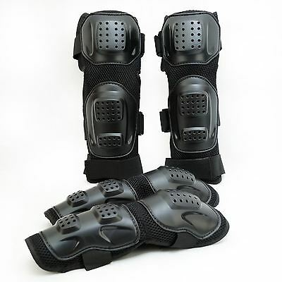 Knee Elbow Shin Pads Armour Guard for Motocross Motorcycle Bicycle Skate Bike