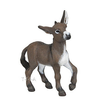 FREE SHIPPING | Papo 51141 Donkey Foal Burro Farm Animal Model - New in Package