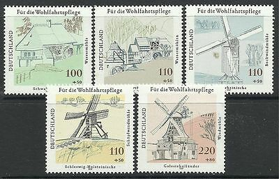 GERMANY. 1997. Humanitarian Relief Fund - Mills Set. SG: 2814/18. MNH.