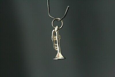 Trumpet PP-M09 Pendant On 925 Sterling Silver Necklace 16,18,20,26,30
