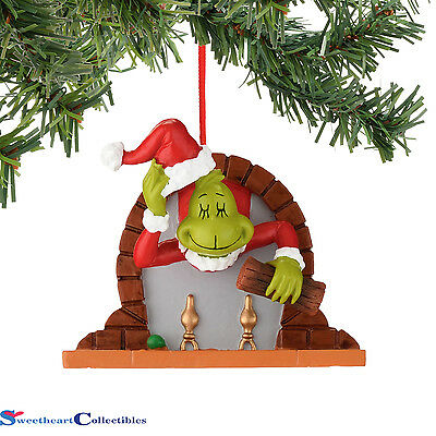 Department 56 Grinch Fireplace Ornament 4044935 New 2015