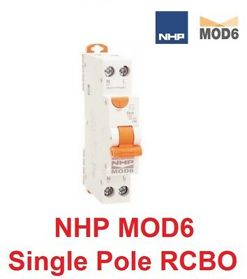 Ge 10A 16A 20A Single Pole RCD MCB RCBO 6kA Safety Switch 1 Phase