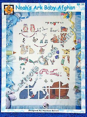 Cross Stitch Pattern Noah's Ark Baby Afghan Magnificent