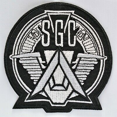 Stargate Crew Team Iron On Patch Sew Cosplay Costume SG1 Logo TV Sci Fi Star