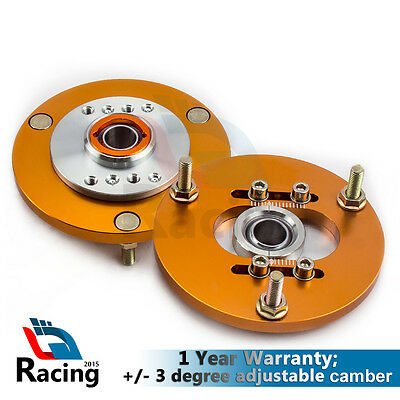 Pair Front CoilOver +/-3 Camber Plate Top Mount for BMW 3 Series E36 316 318 328