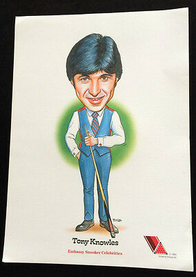 Tony Knowles Coloured Caricature By Trist Dated 1985.