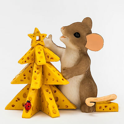 Charming Tails Mouse Cheese Christmas Tree Figurine NEW 4046947 2015