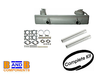 Vw T1 Beetle 1200 Exhaust Silencer Kit Tail Pipe & Fittings 111251051H A585