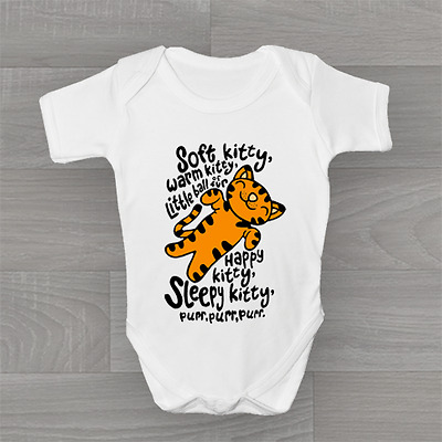 Big Bang Theory, Soft Kitty, Warm Kitty, Cute & Funny Baby Grow Body Suit Vest