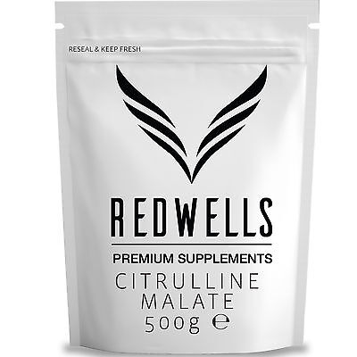 CITRULLINE MALATE POWDER (2:1) 500g - PHARMACEUTICAL QUALITY - WITH FREE SCOOP!