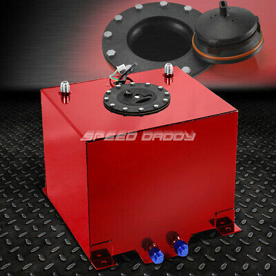 5 Gallon Red Coated Aluminum Racing/drifting Fuel Cell Gas Tank+Level Sender