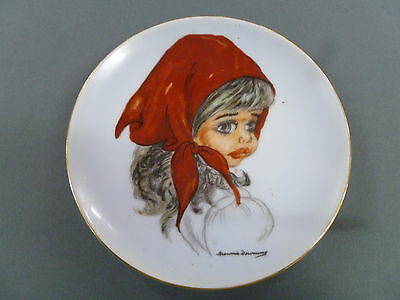 Signed Brownie Downing Hanging Wall Plate / Australian Pottery