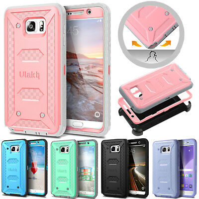for Samsung Galaxy Note 5 Defender Case Hybrid Shockproof  w/ Belt Holster Cover