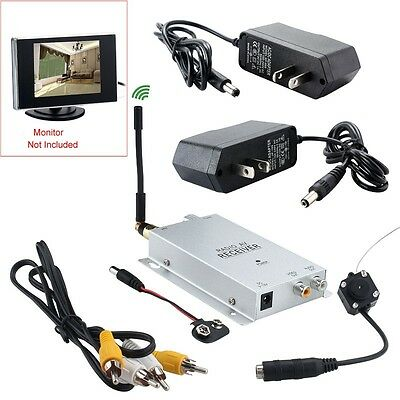 1.2GHZ Long Distance Wireless A/V Audio Camera W/ Transmitter Receiver Set