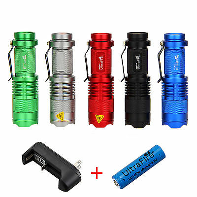 1200LM CREE Q5 LED Flashlight Adjustable Zoomable Torch Taschenlampe