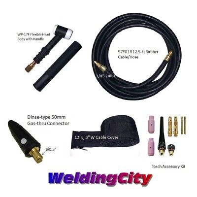 TIG Welding Torch Set #17F 150A 12.5-ft Air-Cool for LINCOLN Welder w/Free Glove