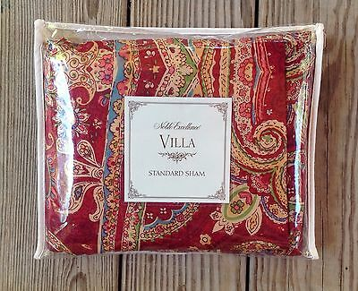 """Noble Excellence Villa Carrara Standard Quilted Sham 20"""" X 26"""" New In Package"""