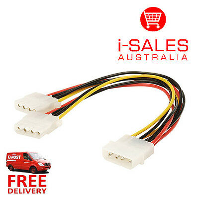 IDE Molex to 2 Molex Splitter Y Power Cable Adapter