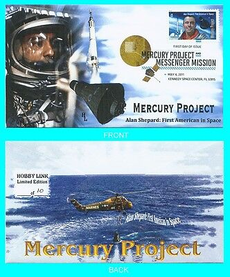 Alan Shepard  First Day Cover with Color Cancel Type 2
