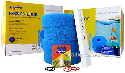 Laguna Pressure Flow Annual Service Kit Uv Bulb Filter Foam New Version