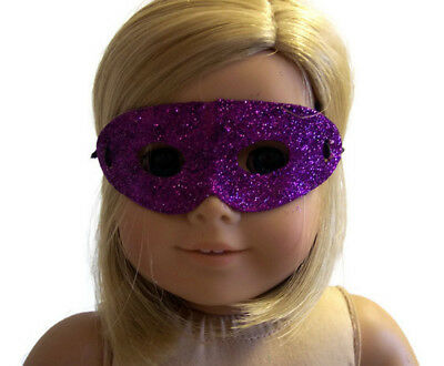 """Purple Glitter Halloween Mask made for 18"""" American Girl Doll Clothes"""