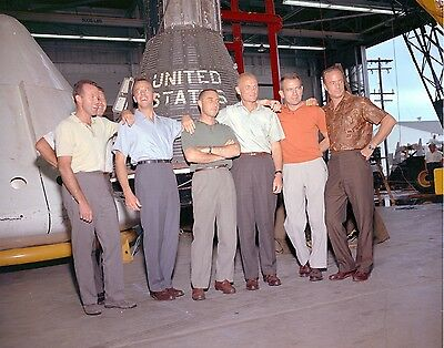 Original Mercury Seven NASA Astronauts 8x10 Photo - Cooper, Glenn, Grissom, Ect