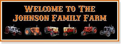 VINTAGE Case tractor photo CUSTOM metal sign 12x34 with your farm name