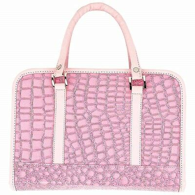 New PINK Faux Alligator BIBLE COVER  Protective Ladies Holy Book Tote Carry Case