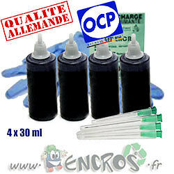 Recharge Kit Encre 4x30ML Couleur BLACK universelle pour BROTHER