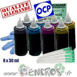 Recharge Kit Encre 8x30ML Couleurs universelles pour BROTHER