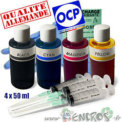 Recharge Kit Encre 4x50ML Couleurs universelles pour BROTHER