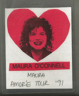 Maura O'Connell Amore Tour 1991 Laminate Pass