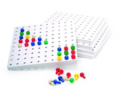1 Individual Square Peg Board 100 holes (pegs not included)16cm x 16cm Maths
