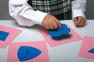 Montessori inset shapes home education sen 2D Shapes template
