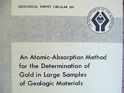 GOLD Measurement by Atomic Absorption Geologist Prospectors Treasure Gold Rush