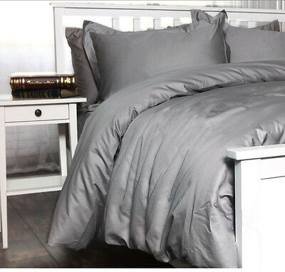 LUXURY Duvet Cover Set 1000TC 100% Combed Egyptian Cotton Sateen  Grey color