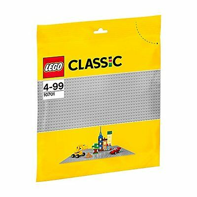 Brand New Lego Classic Grey Baseplate Sealed 10701 Base Plate Gray