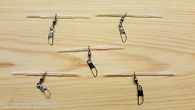 5 x Loaded Pellet Waggler Big Float Adapters in Clear Rig Tubing + Free Gift.