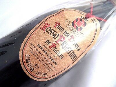 1982 VINICOLA CANNONE Rosso Primtivo IGT Zinfandel Isle of Wine