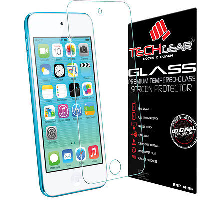 TECHGEAR TEMPERED GLASS Invisible Screen Protector for Apple iPod Touch 5th Gen