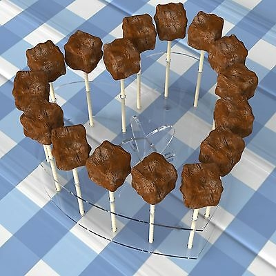 Heart Acrylic Cake Pop Lollipop Holder Display Stand Partys Weddings Birthdays