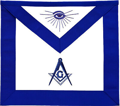 Masonic Blue Lodge Master Mason Apron Hand Embroidered (Ma-099-V)