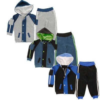 Baby Boys, Girls Contrast Stripe Arm Patch Toddlers Babies Fleece Tracksuit Girl