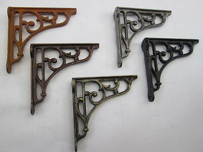 "5"" Cast Iron Victorian Style Scroll Shelf Support Book Toilet Cistern Bracket"