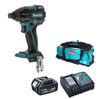 Makita 18V Dtd129 Impact Driver Bl1840 Battery Dc18Rc Charger & Lxt600 Bag