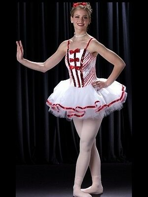 LAND OF SWEETS Christmas Ballet Tutu Candy Cane Dance Costume Child & Adult