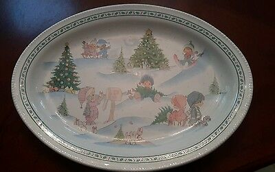 Precious moments enesco 1996 serving  plate Christmas platter (tble7)