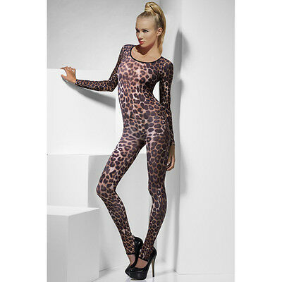 Catsuit Overall Body Panther Gogo Fasching Party Freizeit Fashion Sexy S/M/L Neu